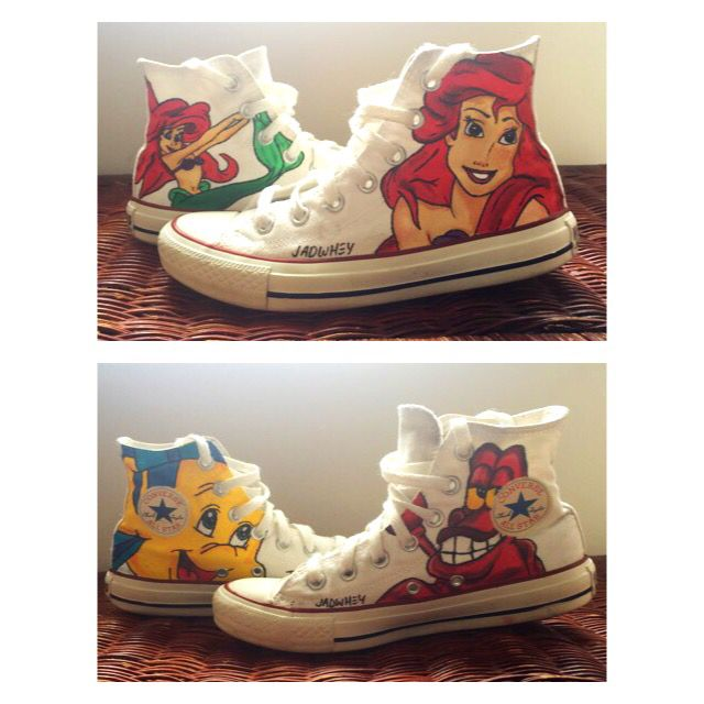 Disney the Little Mermaid converse done by me a little while ago ☺️