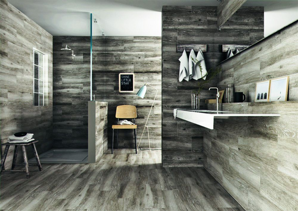 Sandalo Grey Natural Wood Effect Floor Tiles Wood Effect Floor Tiles Wood Wall Tiles Bathroom Tile Designs
