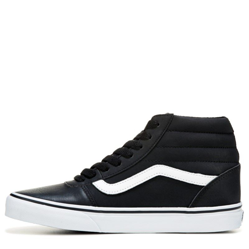 59e0b8641718 Vans Men s Ward High Top Leather Sneakers (Black White) - 12.0 M ...