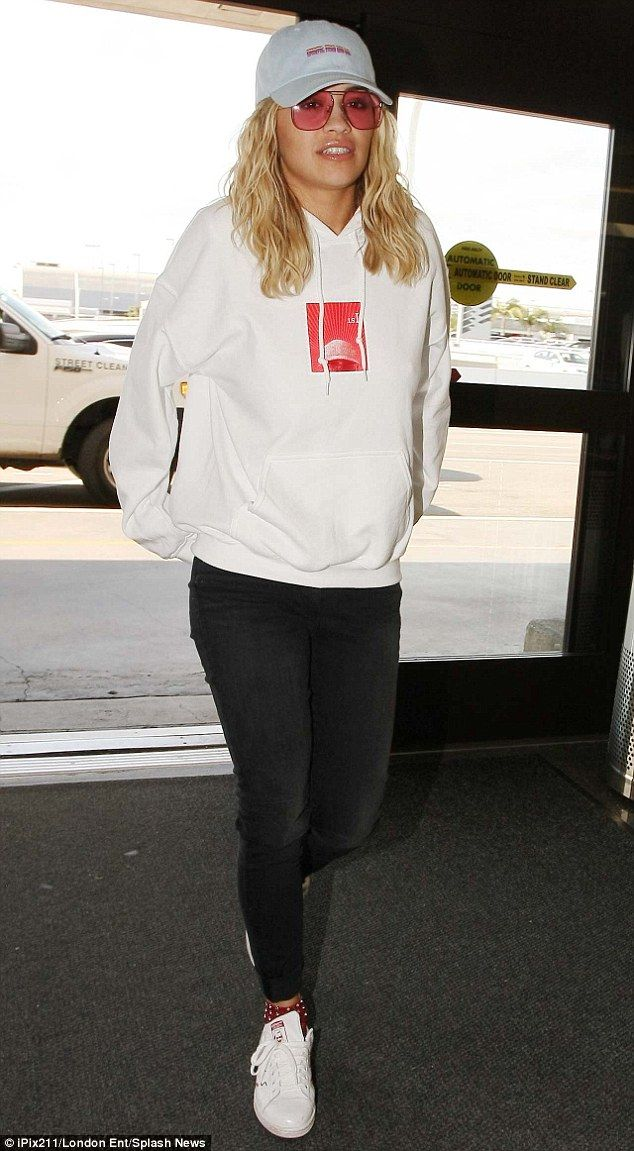 best cheap 9363d 7ead1 Get Rita s sports luxe look with Adidas Originals Stan Smith trainers.  Dress down Tuesday  Rita Ora made the most of her down time showing off her  casual ...