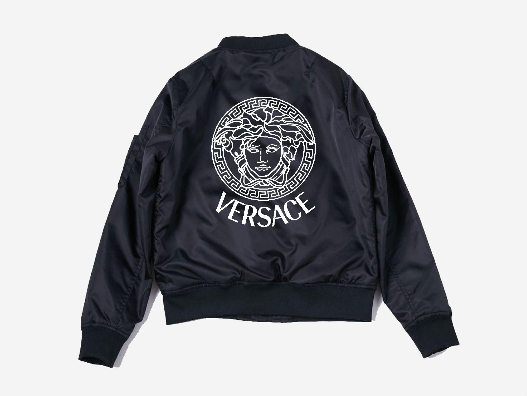 Versace Bomber Jacket Bomber Jacket Black Bomber Jacket Girl Gang
