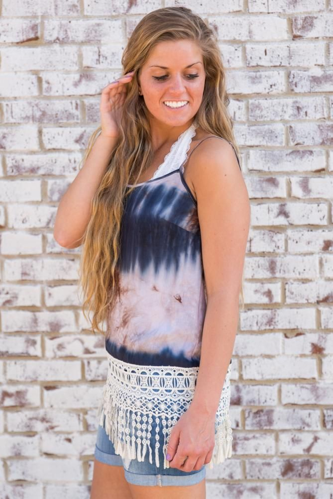 Pink Coconut Boutique | Too Cool for the Summer Tank - Navy