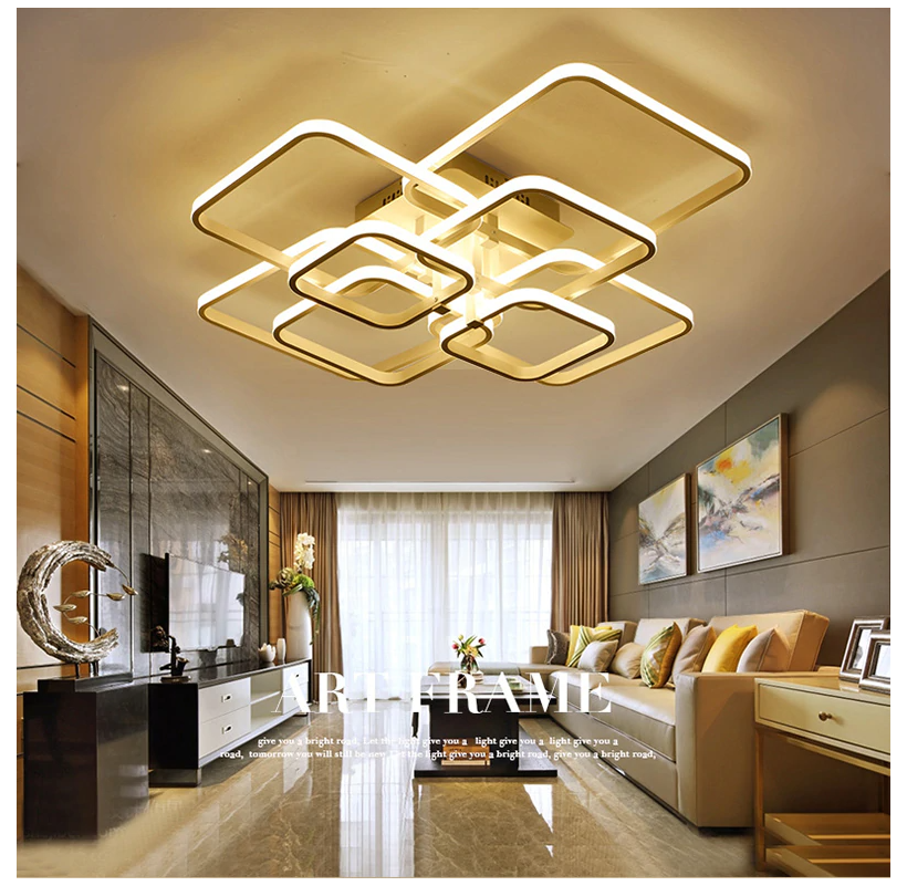 Living Room Square Circle Rings Lamp Fixtures Led Ceiling Lights Living Room Ledceilinglightslivingroom Features 100 Brand New Size 580x460mm 40w 700x 2020