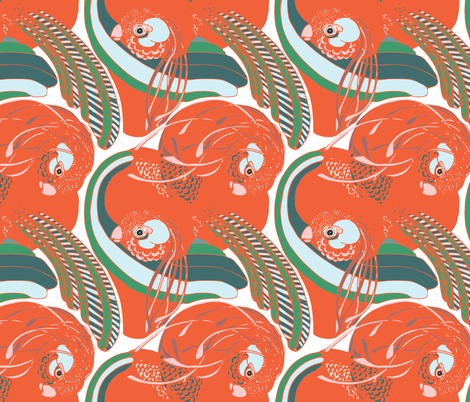 Imaginary Birds fabric by where_the_tiled_things_are on Spoonflower - custom fabric