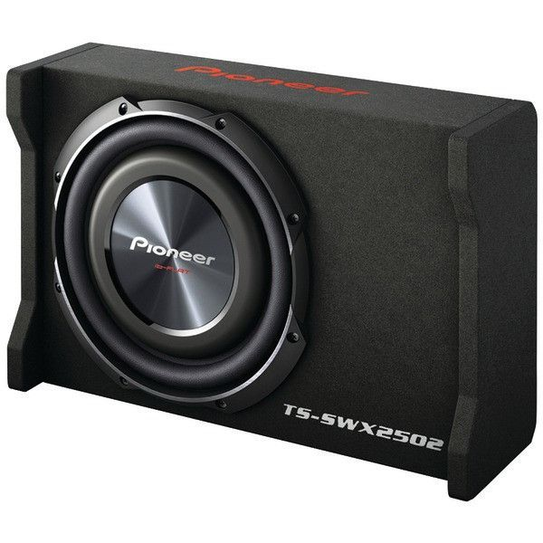 """2 x PIONEER TS-SW2502S4 10/"""" CAR SHALLOW-MOUNT SINGLE 4-OHM SUBWOOFER 300W RMS"""