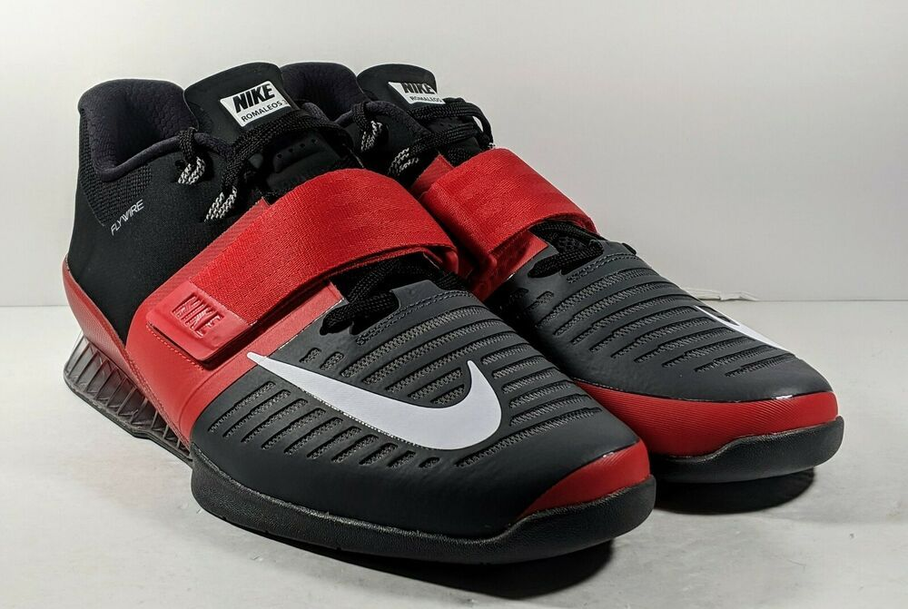 Men/'s Nike Romaleos 3 Weightlifting Training Shoes 852933 Black Red White Blue