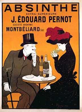 Absinthe J. Edouard Pernot by Leonetto Cappiello. Vintage French Liquor Bar Poster Reproduction (17.5 x 24.75) Vintage