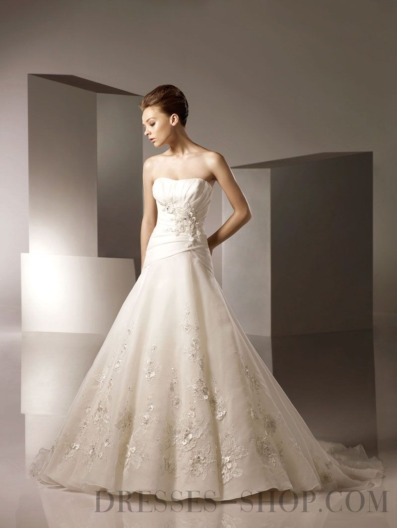 Awesome sweetheart ruffles organza wedding dresses wedding dresses