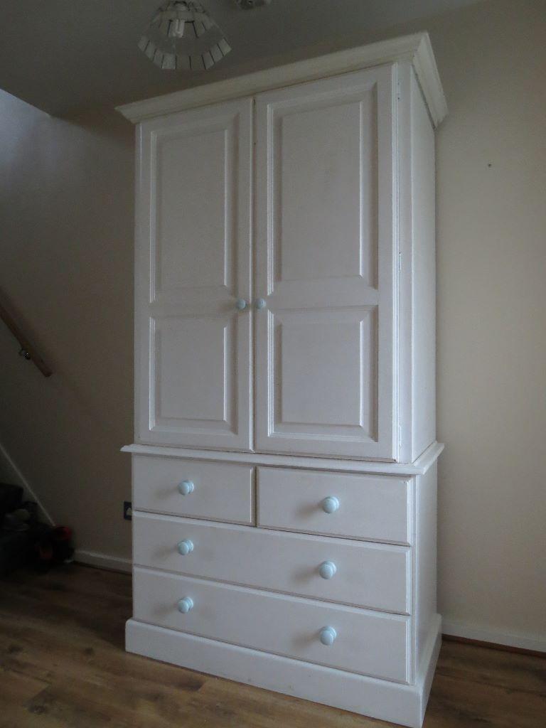 White Wooden Wardrobe Sale