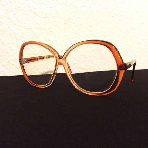 70s Diane Von Furstenberg Glasses - Red-Brown / Orange Frames - DVF ...
