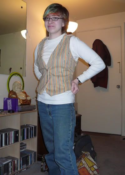 iota1617@Craftster Stripped Vest (sort of from pattern) - CLOTHING