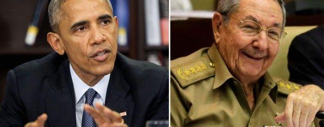U.S. President Barack Obama; Cuba President Raul Castro (AP)