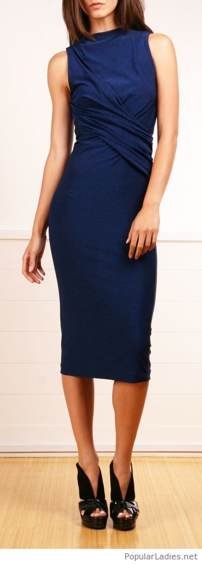 Long Navy Dress With Black Shoes Dresses Pinterest Dresses