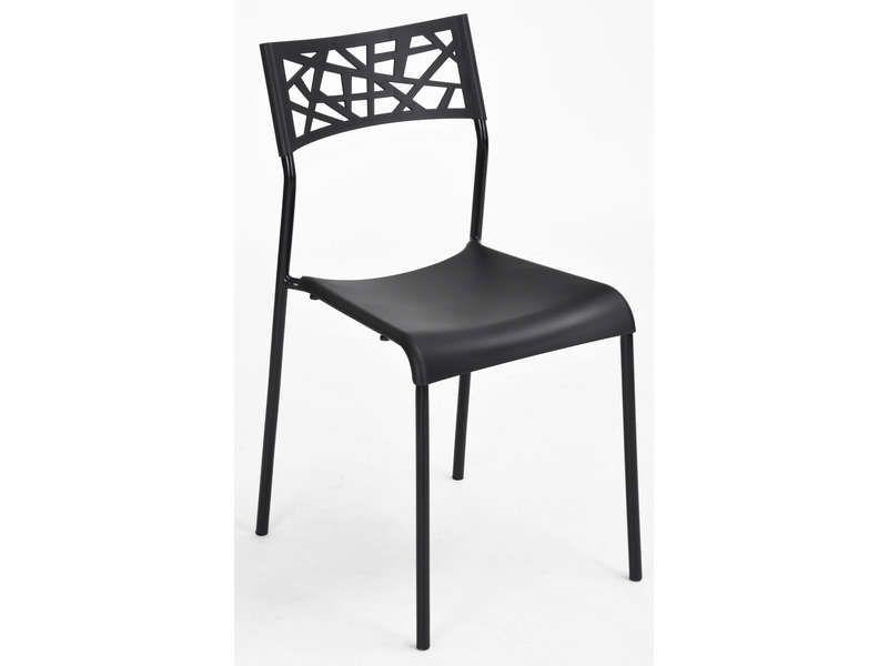 chaise martine coloris noir pas cher c 39 est sur. Black Bedroom Furniture Sets. Home Design Ideas