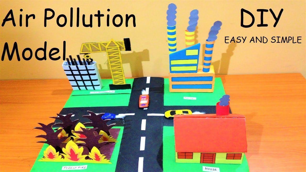 Air Pollution Model For School Science Fair Project Howtofunda Diy Fair Projects Science Fair Projects Science Fair