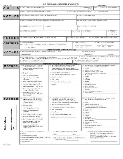 15 Birth Certificate Templates Word PDF Template Lab english