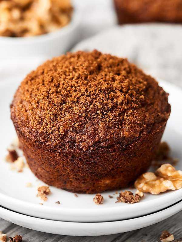 Brown Sugar Banana Nut Muffins Recipe W Sour Cream Pecans Walnut Recipe Banana Nut Muffin Recipe Banana Nut Muffins Moist Banana Muffins