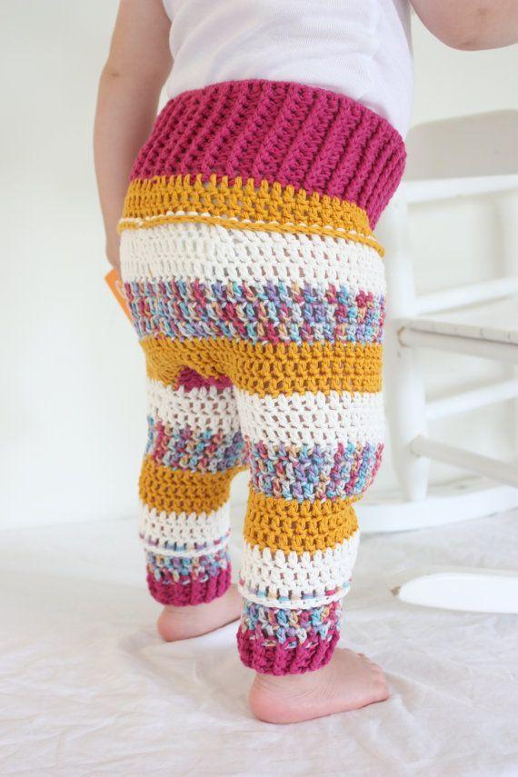 Resultado de imagem para pinterest crochet baby   calças de bebê ...