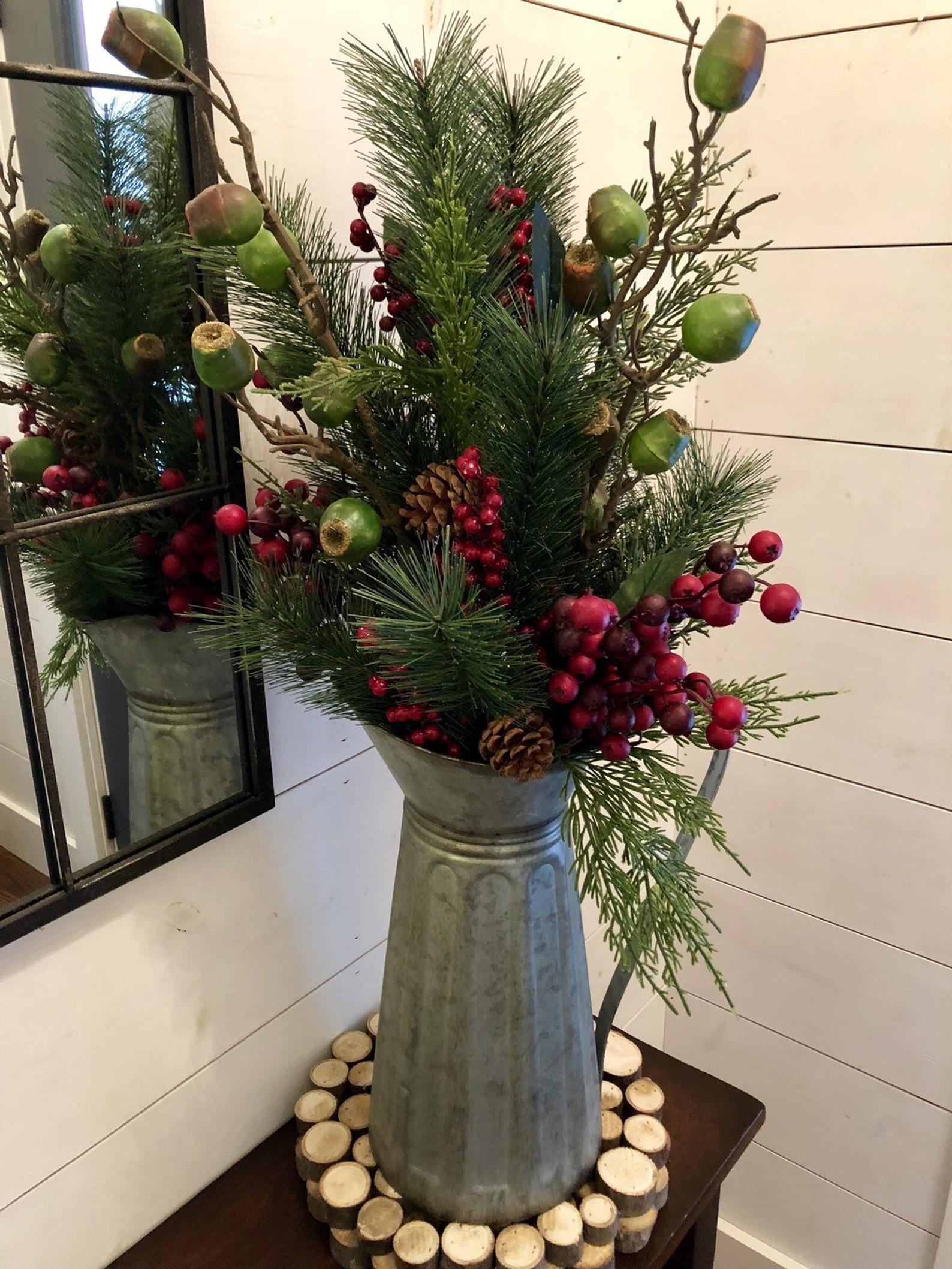 Christmas arrangement rustic christmas floral farmhouse