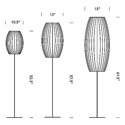 Lotus Bubble Floor Lamp Cigar With Images Bubble Lamps Floor Lamp Nelson Bubble Lamp