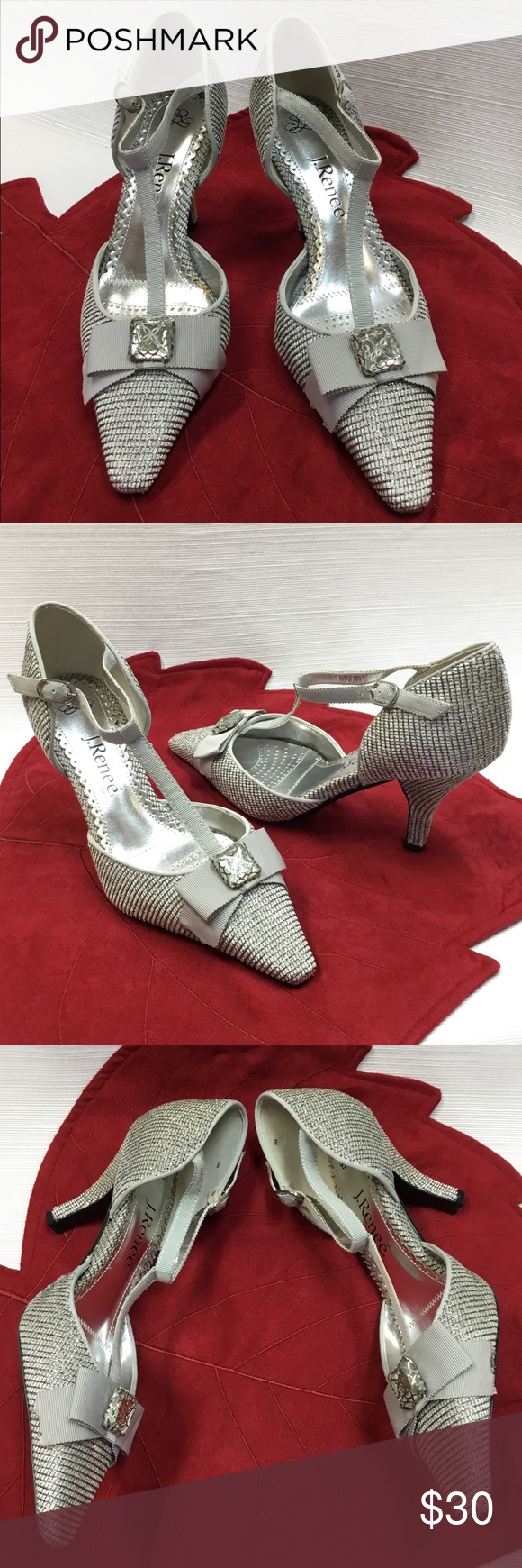 f5447a2e7749 New Beautiful Silver   Neutral Heels by J. Renee I usually ship in 24 to