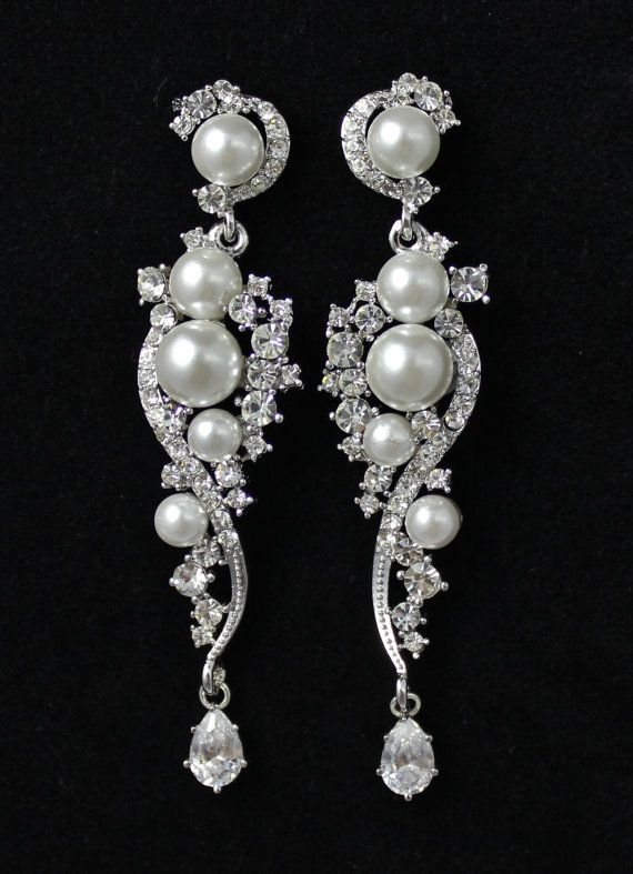 Wedding Bridal Jewelry Chandelier Earrings By Jamjewels1 52 00