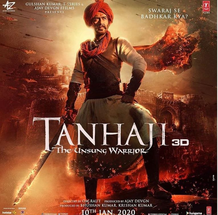Tanhaji New Poster Hindi movie film, Movies to watch