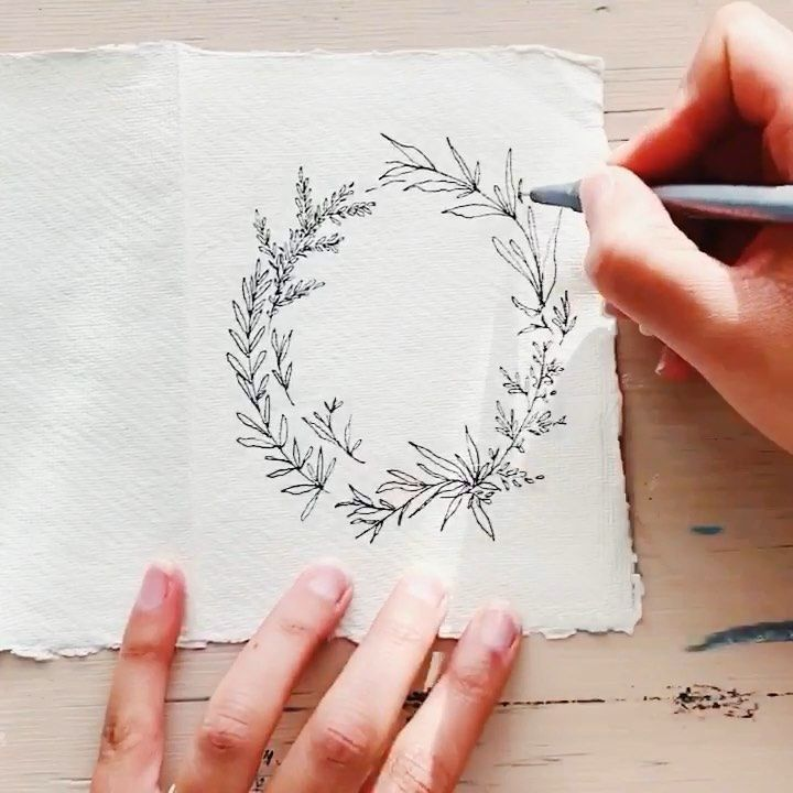 """Photo of @createthecut on Instagram: """"A quick little wreath doodle. This is a great way to get your cr …"""