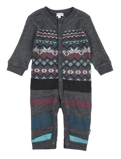 Adorable and stylish Baby Boy's Fair Isle Coverall Soft and cozy ...