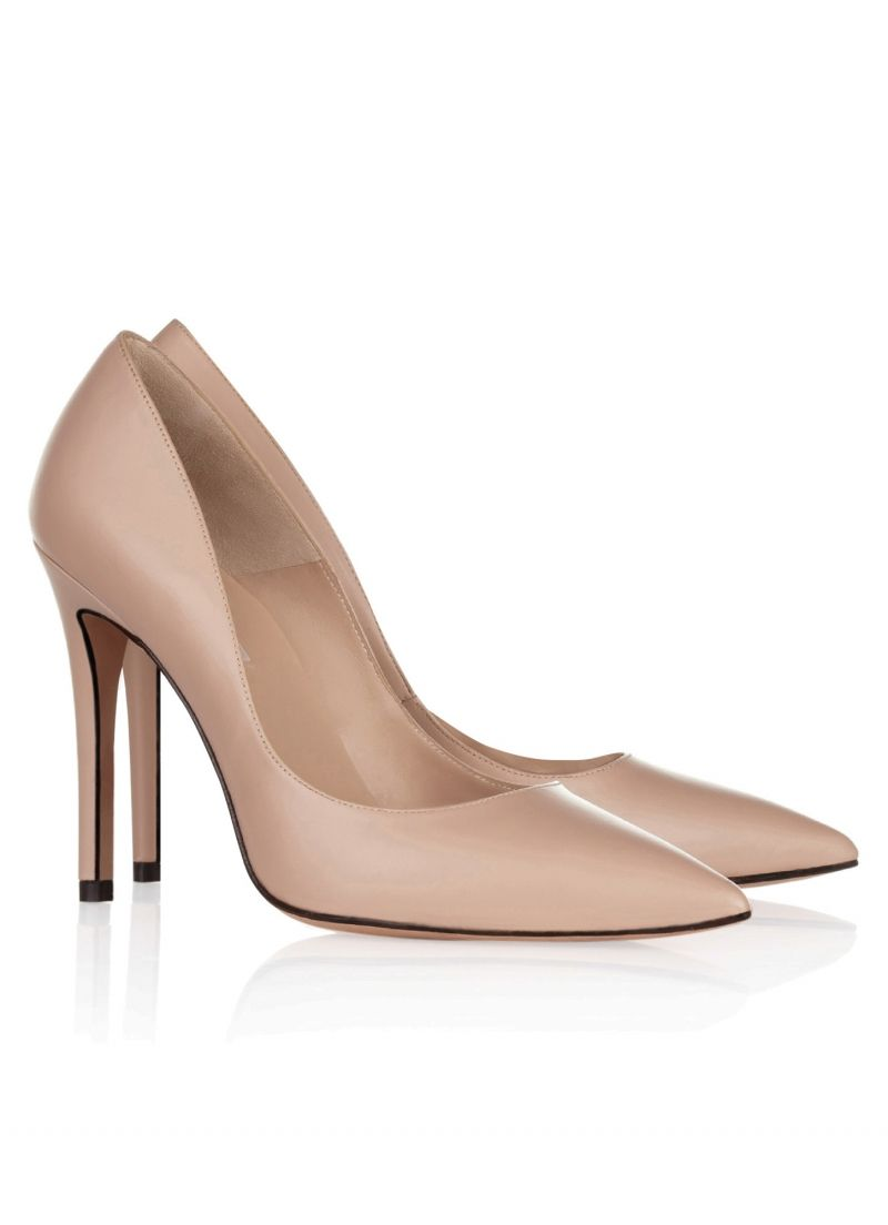 PURA LOPEZ Modèle Fatima- Cuir Couleur NUDE Pointed toe high heel pumps by Pura  Lopez. Crafted from nude leather. 80ad6206409