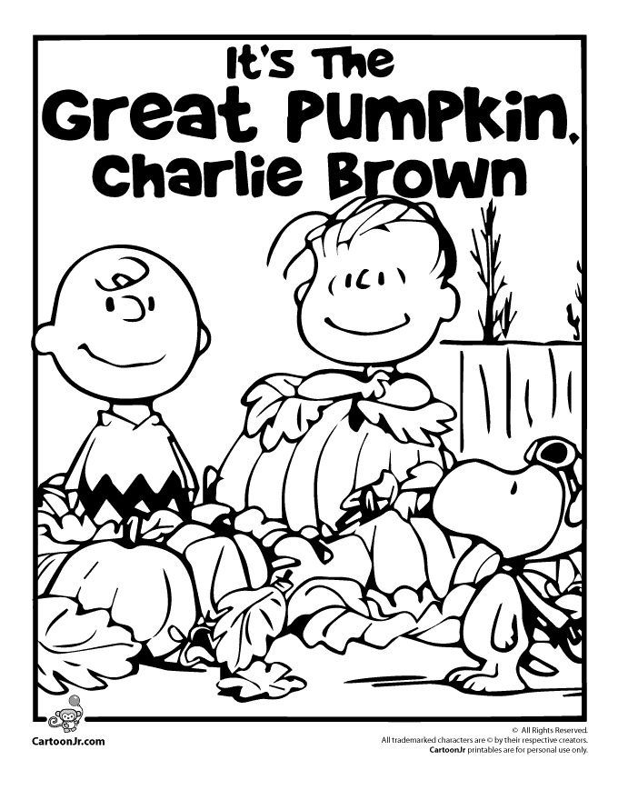 It S The Great Pumpkin Charlie Brown Charlie Brown Halloween Pumpkin Coloring Pages Halloween Coloring Pages