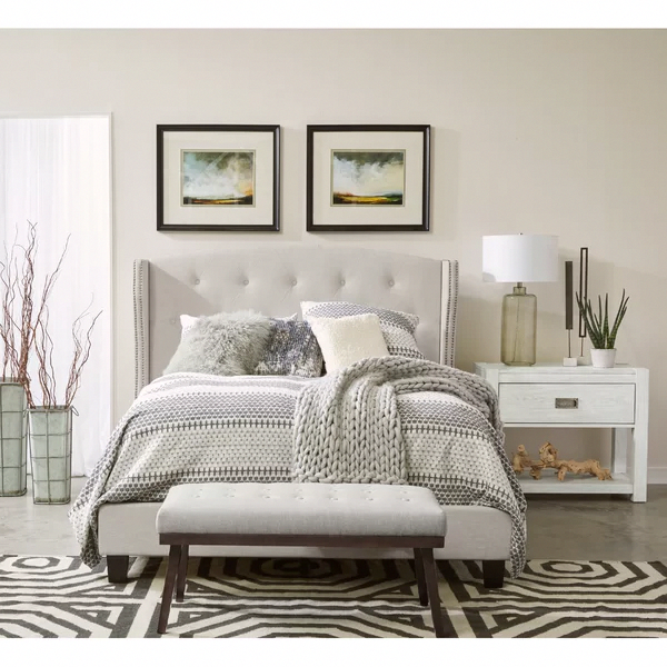Photo of Charlton Home Chung Queen Upholstered Standard Bed   Birch Lane