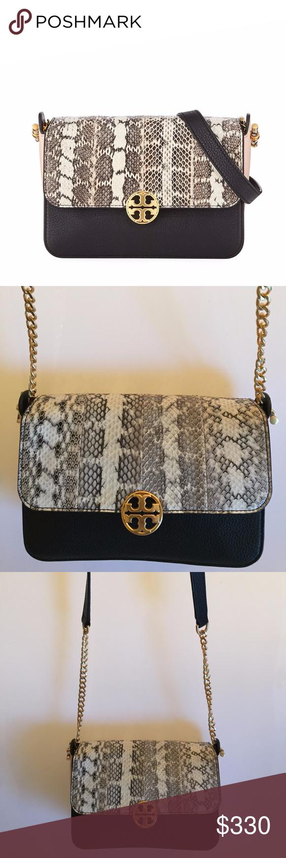 f3ff2c8091 Tory Burch Chelsea Colorblock Snake Crossbody Bag **NWOT** Color: Black/