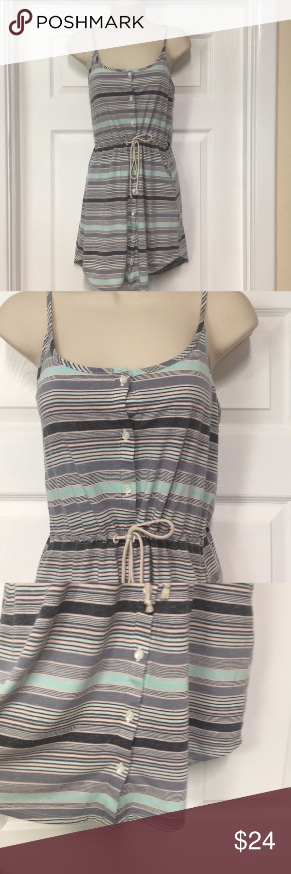 Victoria S Secret Striped Summer Dress Striped Dress Summer Summer Dresses Clothes Design [ 1740 x 580 Pixel ]