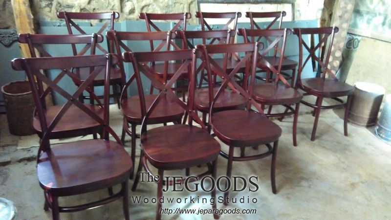 We Manufacturing Cross Back Chairs By Skilled Craftsmen Indonesia Made Of  #teakwood. Weu0027re Also Able To Produce Custom Furniture Designs At Factory  Price.