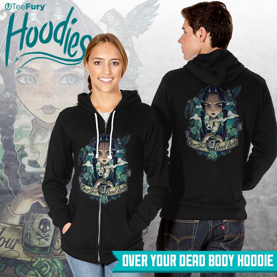 """Over Your Dead Body"" hoodie by #TimShumate is on #TeeFury."