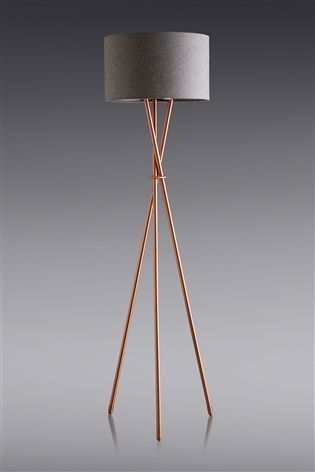 Buy Copper Effect Tripod Floor Lamp From The Next Uk