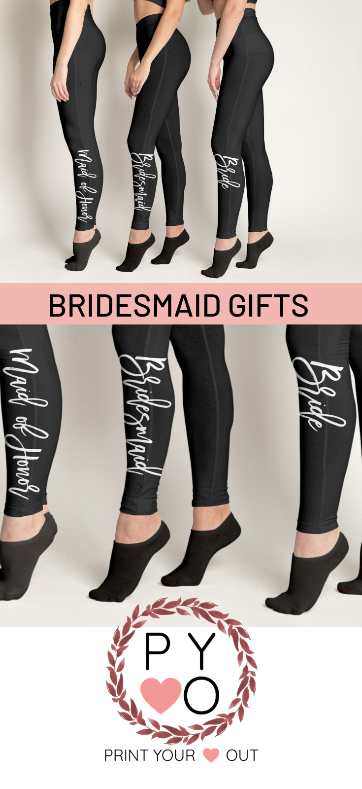 8079c218a Bridesmaids · Black Leggings · 🌸What a great way to make a statement with  your Bride Tribe. Matching classic