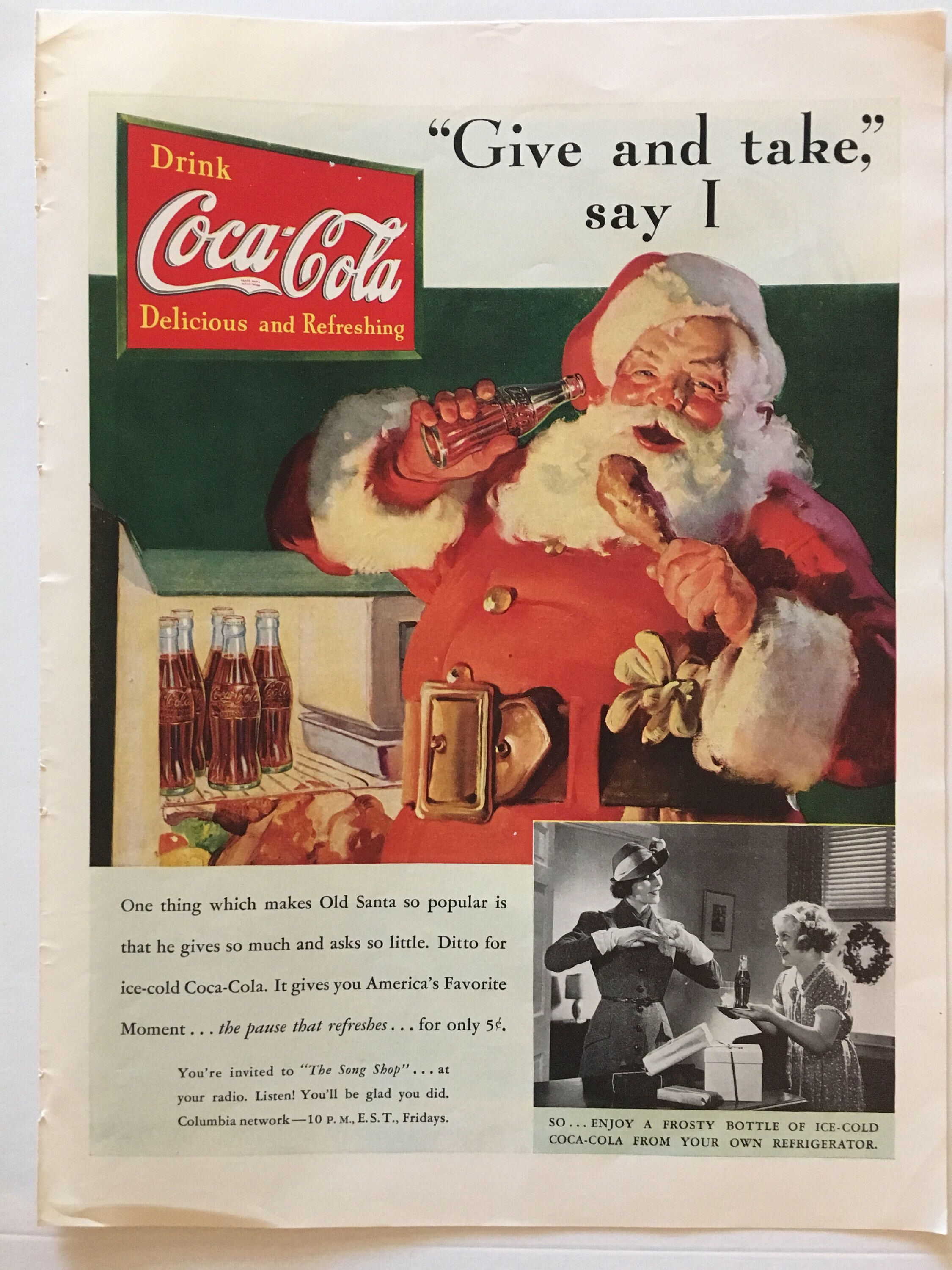 Coca Cola Song Weihnachten.Pin By Ellen Evans On Awesome Vintage Ads Coca Cola Christmas