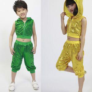 af6a4122a Bright Children s Dancewear Top Pant Boys Modern Jazz Hip Hop Dance ...