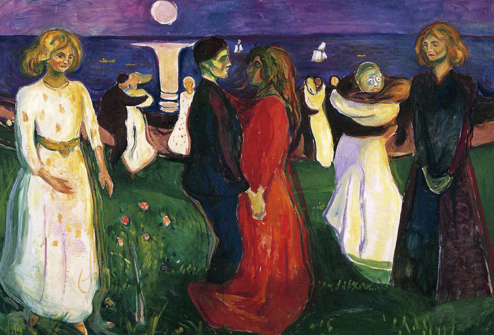 Pesimistas O Expresionistas Munch La Danza De La Vida 1964 Edvard Munch Cuadros Expresionistas Arte Y Literatura
