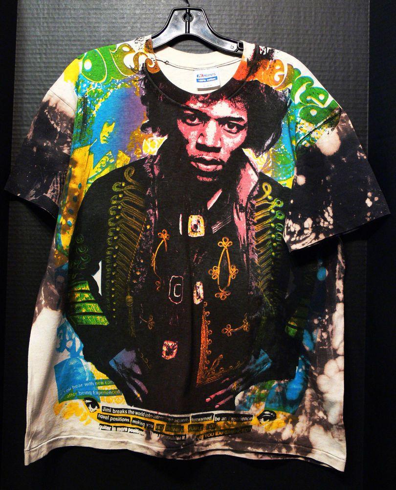5dae28c61 Details about True VTG 90s Jimi Hendrix Guitar Festival T-Shirt XL ...