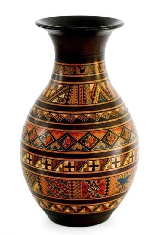 Ancient Inca Designs Geometric Inca Design Vase Etno Motivi