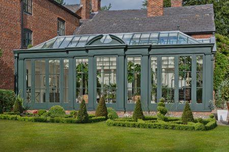 Georgian Orangery In Cheshire Is Designed With Broken Segmental Pediment Orangery Victorian Greenhouses Home And Garden