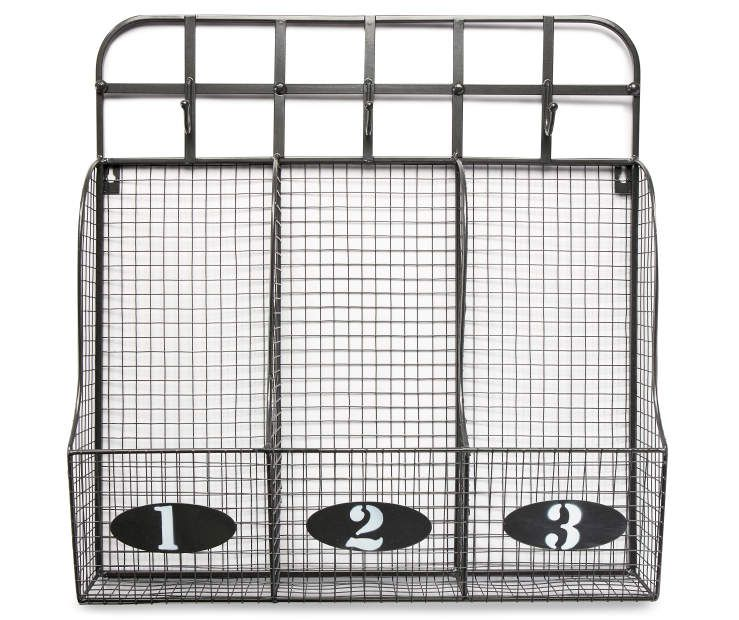 I Found A Silver Wire Basket Cubby With Hooks At Big Lots For Less