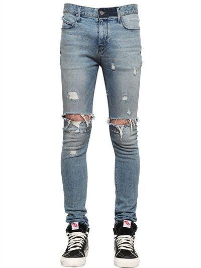 631d39ff2d3 RTA 16Cm Skinny Distress Stretch Denim Jeans, Light Blue. #rta #cloth #jeans