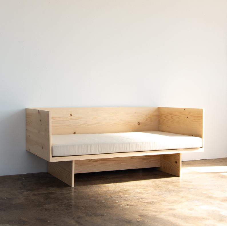 Minimalist Daybed with twin mattress