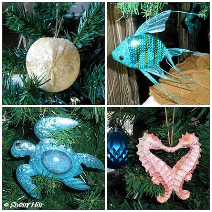 Beautiful coastal holiday ornaments from Kohl's - Beautiful Holiday Decorating Begins At Kohl's Coastal Holiday