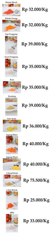 Pabrik Bumbu Tabur Distributor Aneka Bumbu Tabur Online Murah