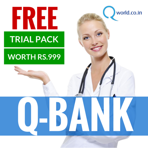 FREE MCQ Bank (Trial Pack) Try this MCQ bank for 10 days & Get to know all the features provided in a paid MCQ Bank. We are sure that you will love it !